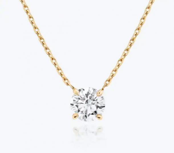 Collar de diamantes solitario