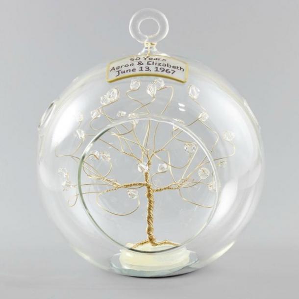 Adorno de oro personalizado con cristales Swarovski claros