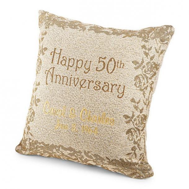 Cojín personalizado para el 50 aniversario