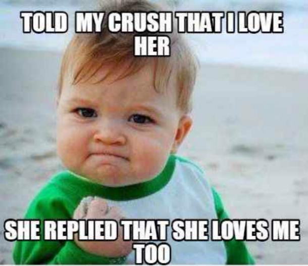 hermoso chico crush y love you meme