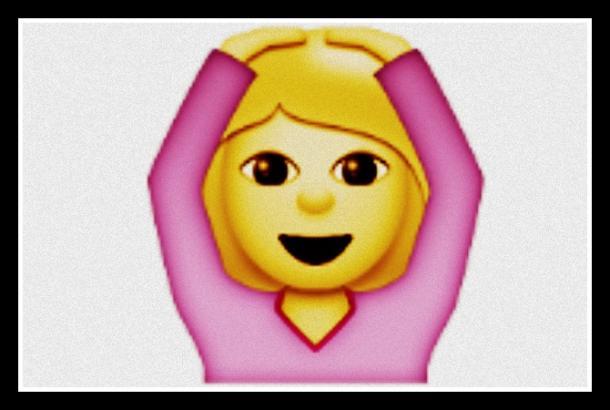 Mujer gesticulando Emoji OK