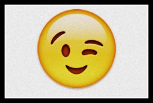 un Emoji que guiña el ojo