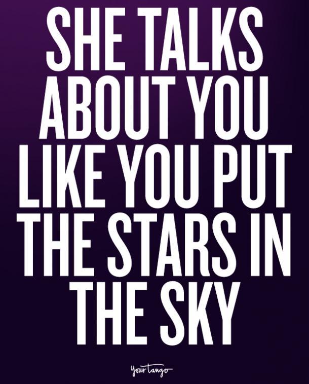Hablad de ustedes mismos mientras coloque las estrellas en el cielo.