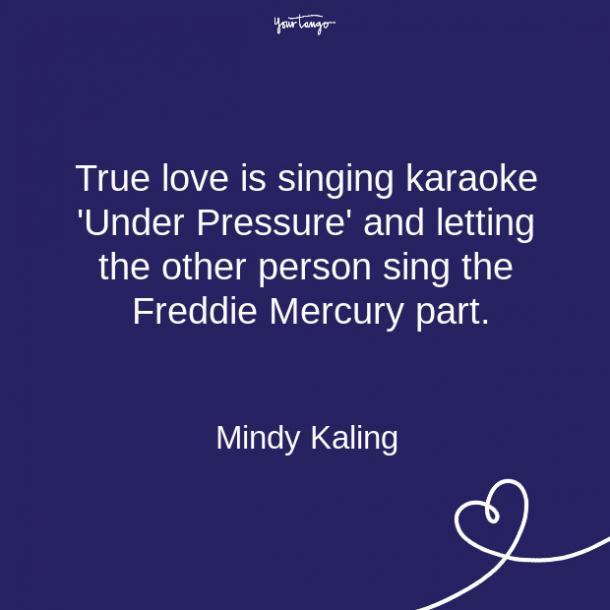 Cita de la relación de Mindy Kalinga