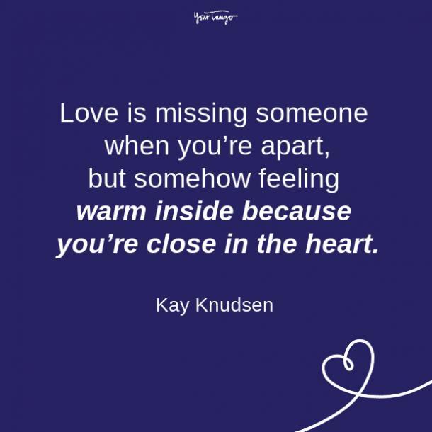 Citas sobre la relación de larga distancia Kay Knudsen