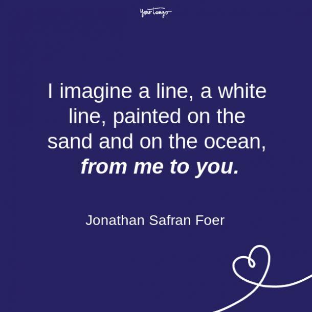 Citas sobre la relación de larga distancia de Jonathan Safran Foer