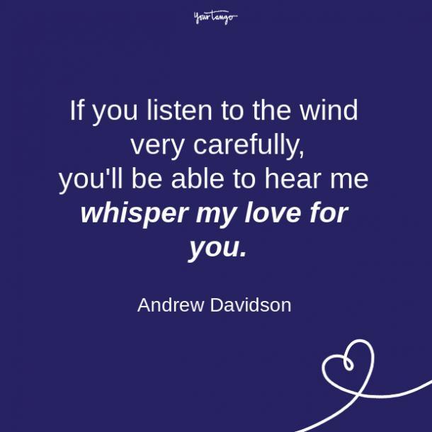 Una cita de una relación de larga distancia de Andrew Davidson