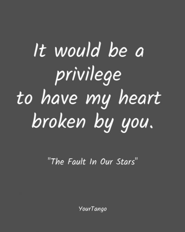 Fue un privilegio que me rompió el corazón.  La culpa de nuestras estrellas