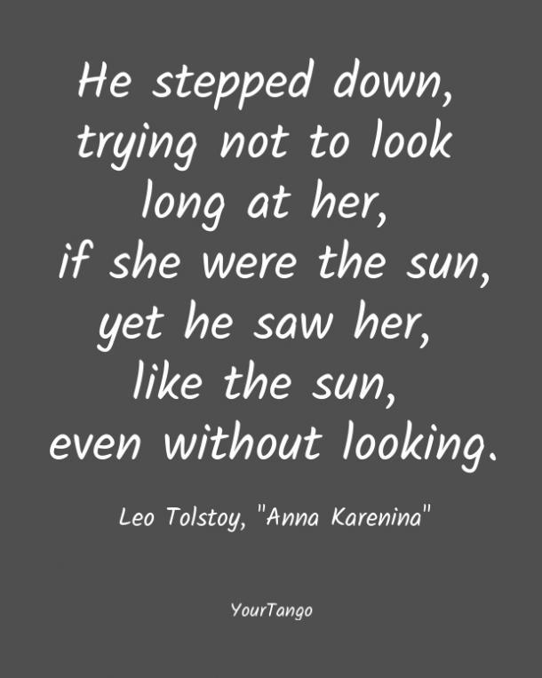 A Anna Karenina le encantan las comillas cortas