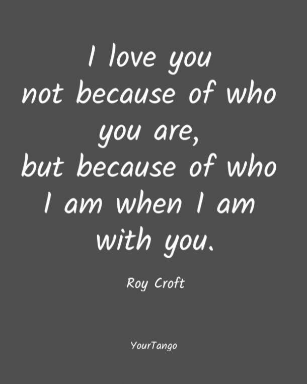 Citas de amor breves de Roy Croft