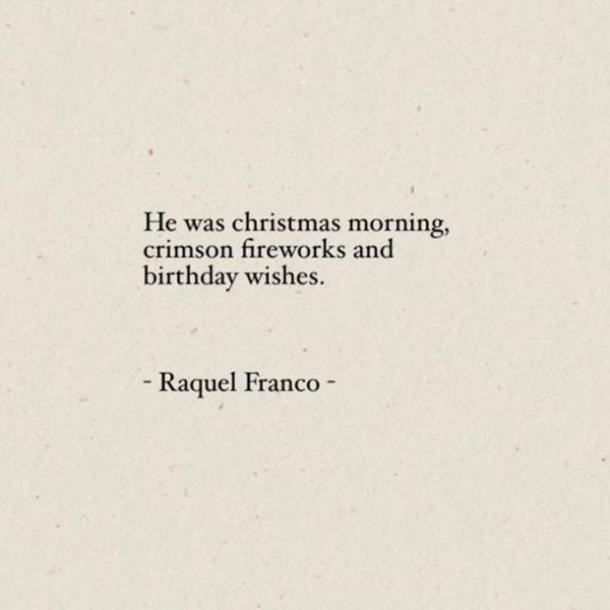 Citas de dulce amor de Raquel Franco