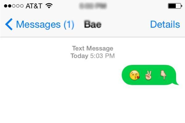 Te besa con Emoji