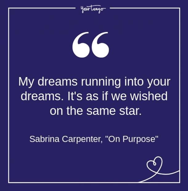 Citas de canciones de Sabrina Carpenter a partir de letras sobre amor