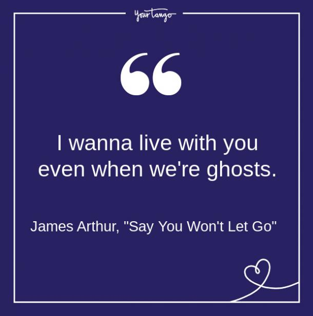 Citas de canciones de James Arthur a partir de letras sobre amor