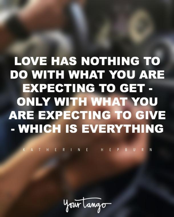 Citas de amor romántico de Katharine Hepburn