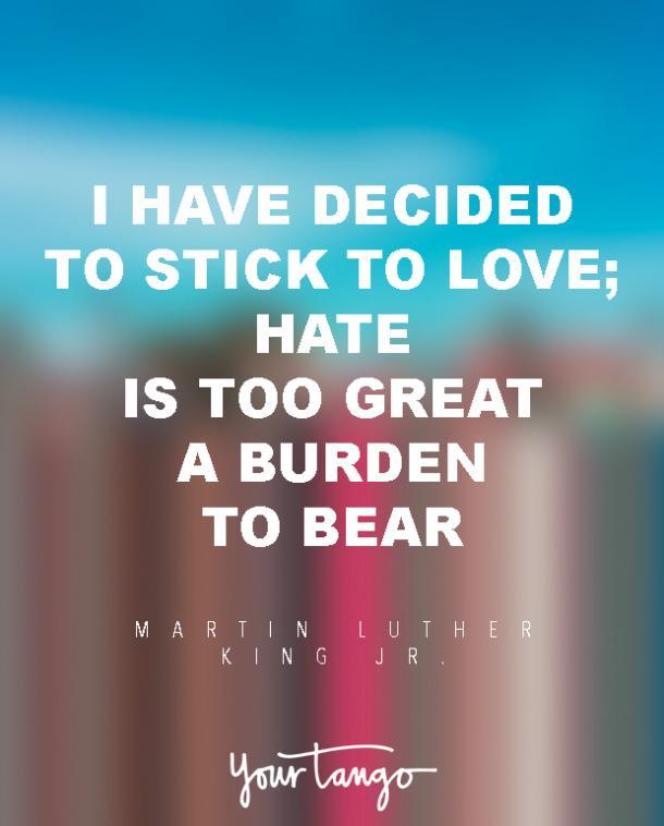 Amor cita a Martin Luther King Jr.