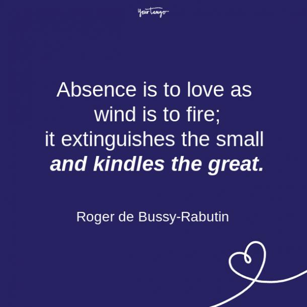 Citas sobre relaciones de larga distancia de Roger de Bussy Rabutin